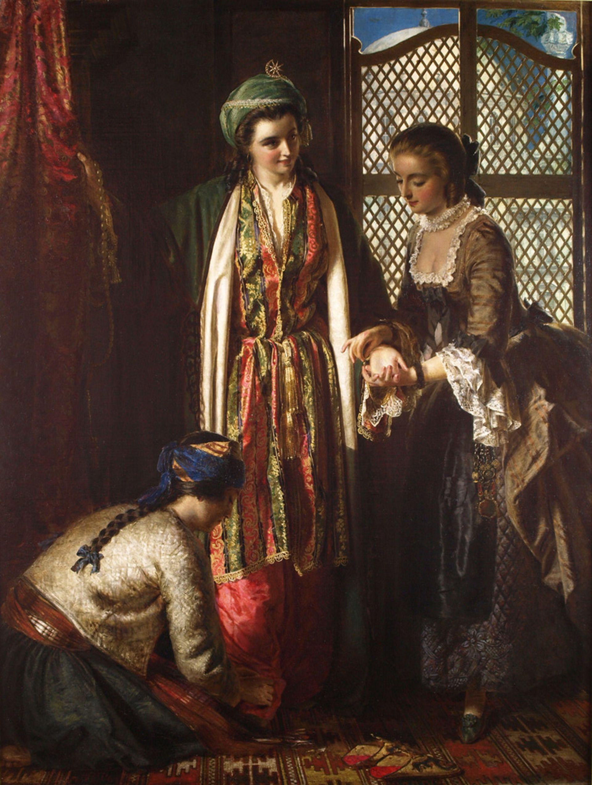 """Lady Mary Montagu en Turquía"", obra de Jerry Barrett"