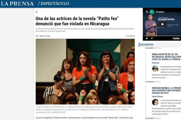 La Prensa, de Nicaragua