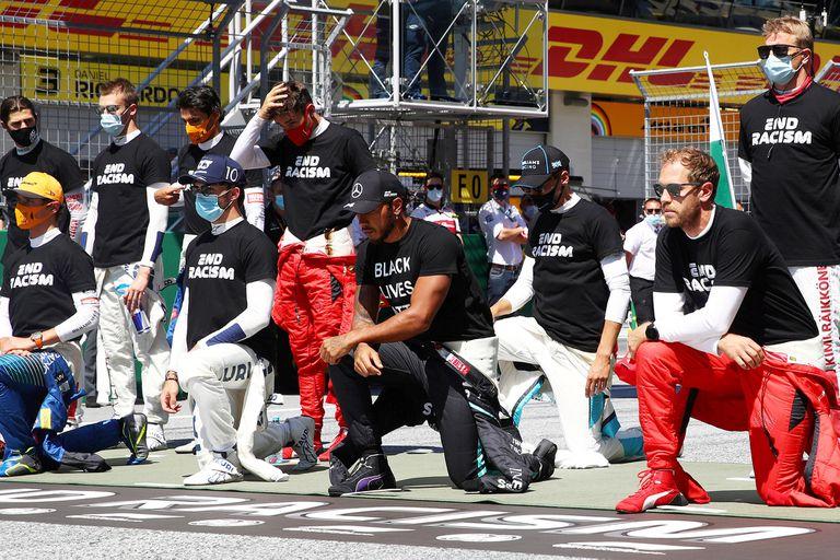 Fórmula 1. Hamilton criticó a Ferrari por el escaso apoyo contra el racismo