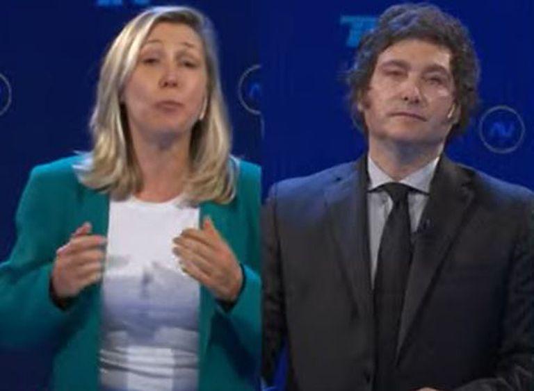 Los 45 segundos más tensos del debate: Myriam Bregman contra Milei