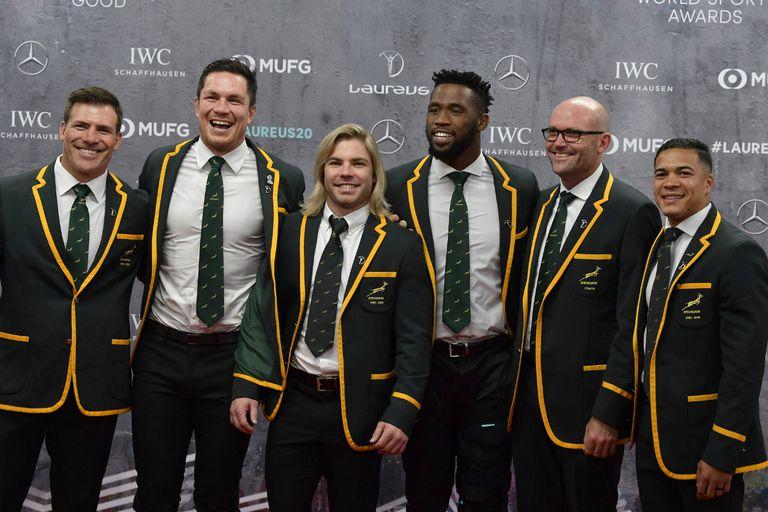 La selección sudafricana de rugby, que ganó la Copa del Mundo en Japón el año pasado por tercera vez en su historia, fue coronada como el Equipo del Año