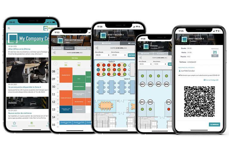Emprendedores: crearon dos apps para organizar la vuelta a las oficinas y clubes