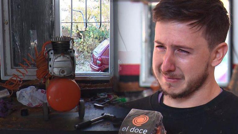 A través de una campaña solidaria que inició el Dipy, el mecánico cordobés al que le desvalijaron su taller recibió más dinero del que había perdido y decidió donar alimentos a varios comedores comunitarios