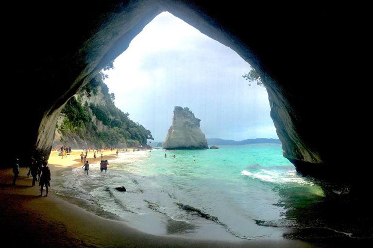 Una cueva en Coromandel, en el norte de Nueva Zelanda