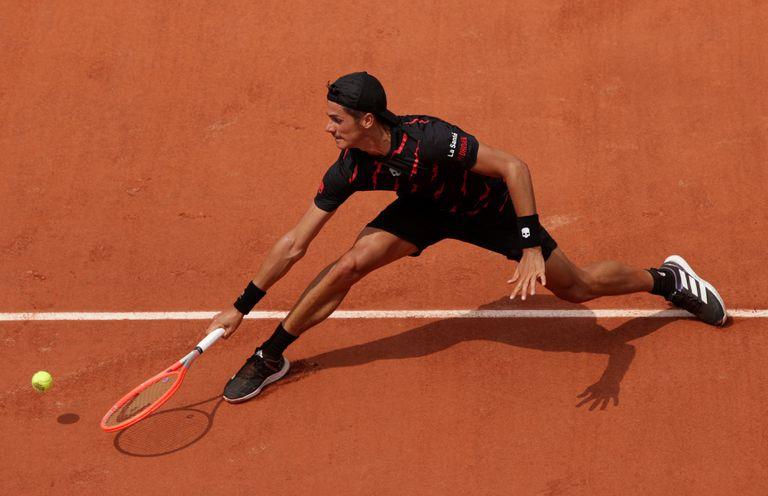 El tenista argentino Federico Coria esta semana disfruta de su mejor ranking: 77°.