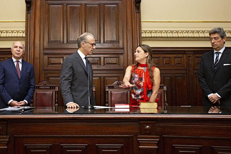 Vanesa Siley, al jurar en el Consejo de la Magistratura