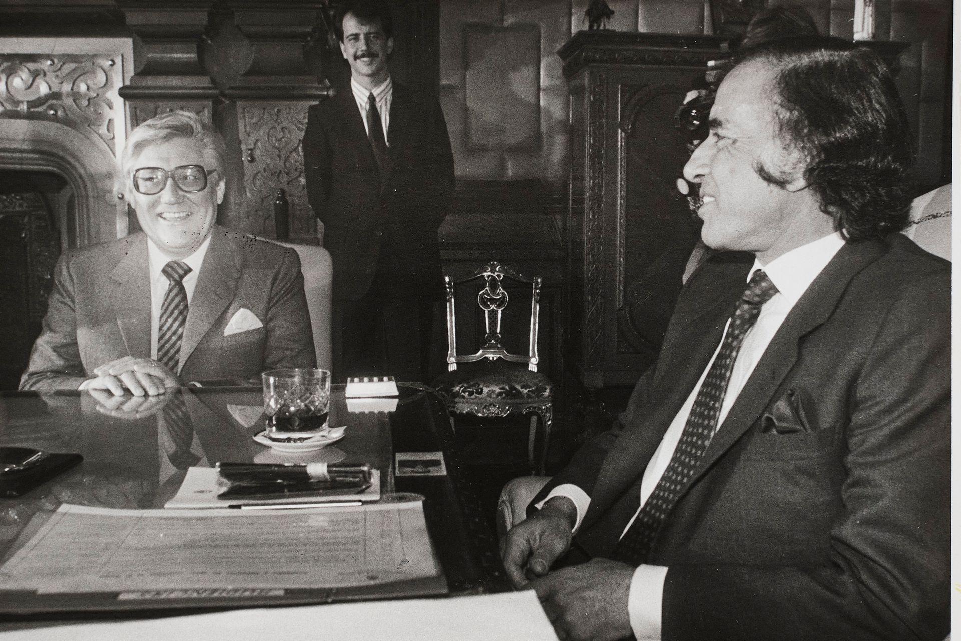 Eduardo Angeloz junto a Carlos Menem.