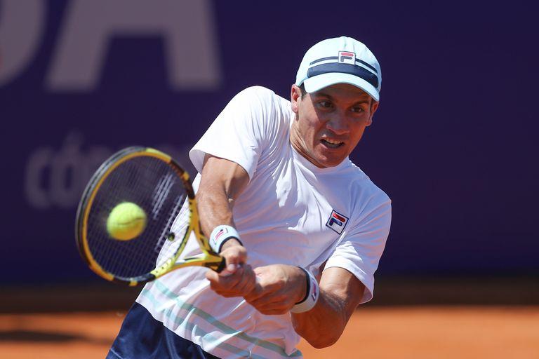 """Facundo Bagnis alcanzó su mejor posición en 2016 (55°); hoy, siendo 130°, aspira a regresar a los cien mejores, una categoría donde el tenista """"puede vivir del tenis"""", según afirmó."""