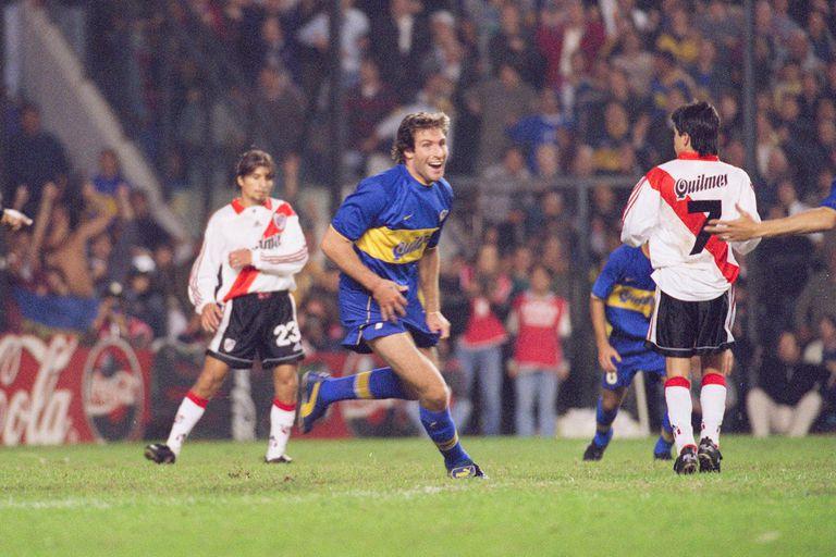 El festejo del gol de Palermo