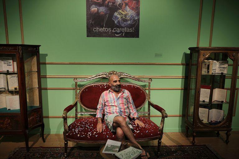 """Sergio De Loof, en la inauguración de su muestra en el Moderno, """"¿Sentiste hablar de mí?"""""""