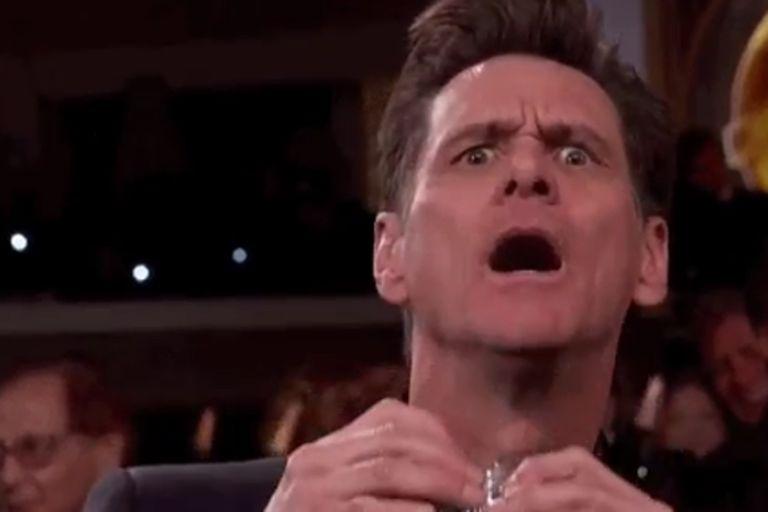 Jim Carrey protagonizó uno de los momentos más divertidos de la noche... que fueron muy pocos