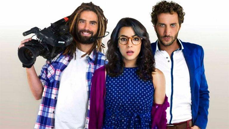 Nicolás Furtado, Agustina Cherri y Luciano Cáceres, los protagonistas de Fanny la fan