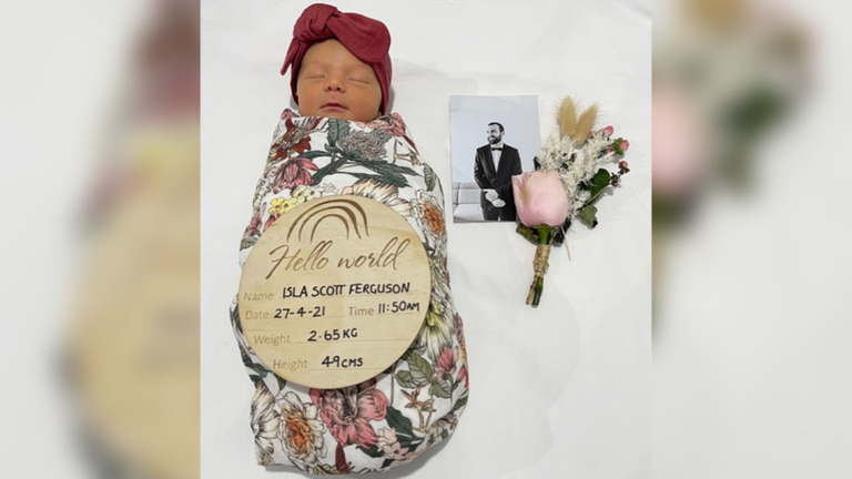 Isla nació el 27 de abril pasado, a pocos días de fallecer su padre de un cáncer cerebral