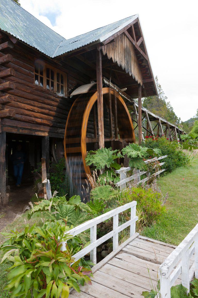 El museo Nant Fach, un viejo molino, en Trevelin