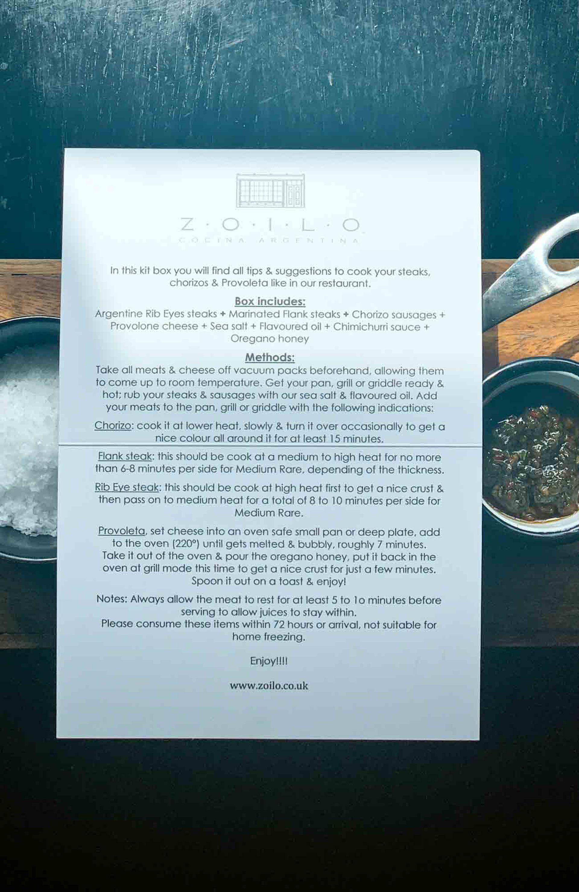 Zoilo y su barbecue box con explicaciones para-hacerse un asado argentino en Londres