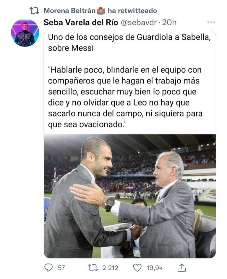 Morena compartió el consejo de Guardiola a Sabella