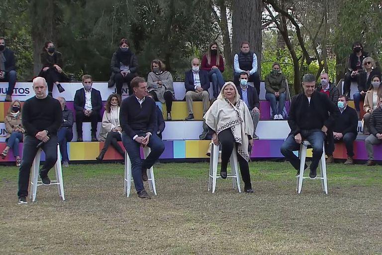 Horacio Rodríguez Larreta, Diego Santilli, Elisa Carrió y Jorge Macri