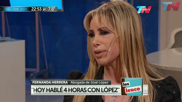 Fernanda Herrera, la abogada de José López, en Los Leuco