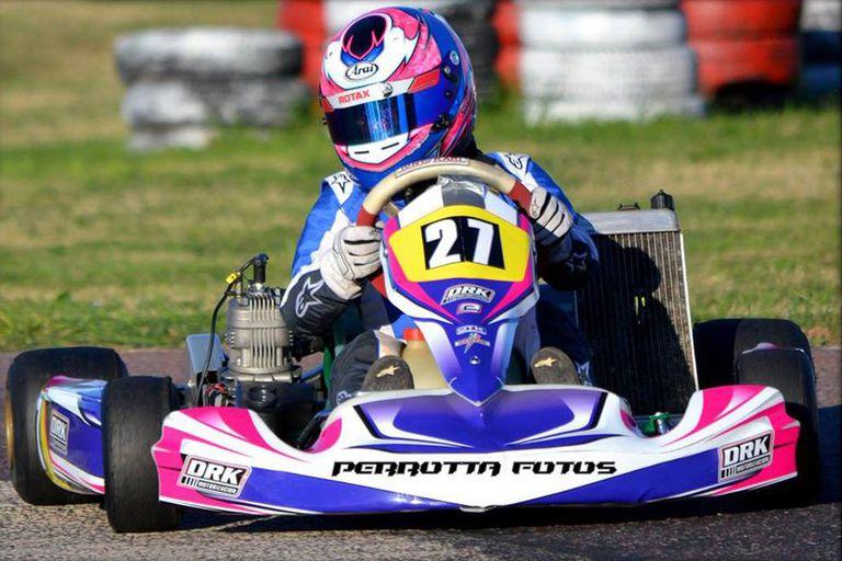 Zaira Rodríguez en una competencia