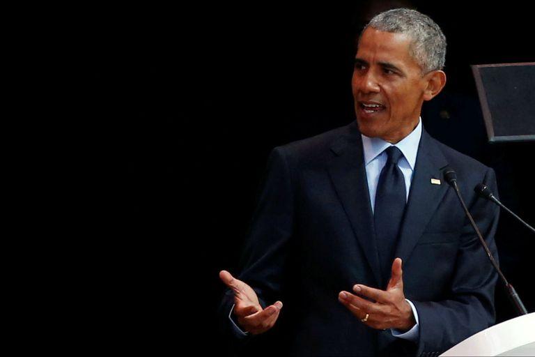 Obama brindó hoy en Johanesburgo un discurso por el centenario del nacimiento de Mandela