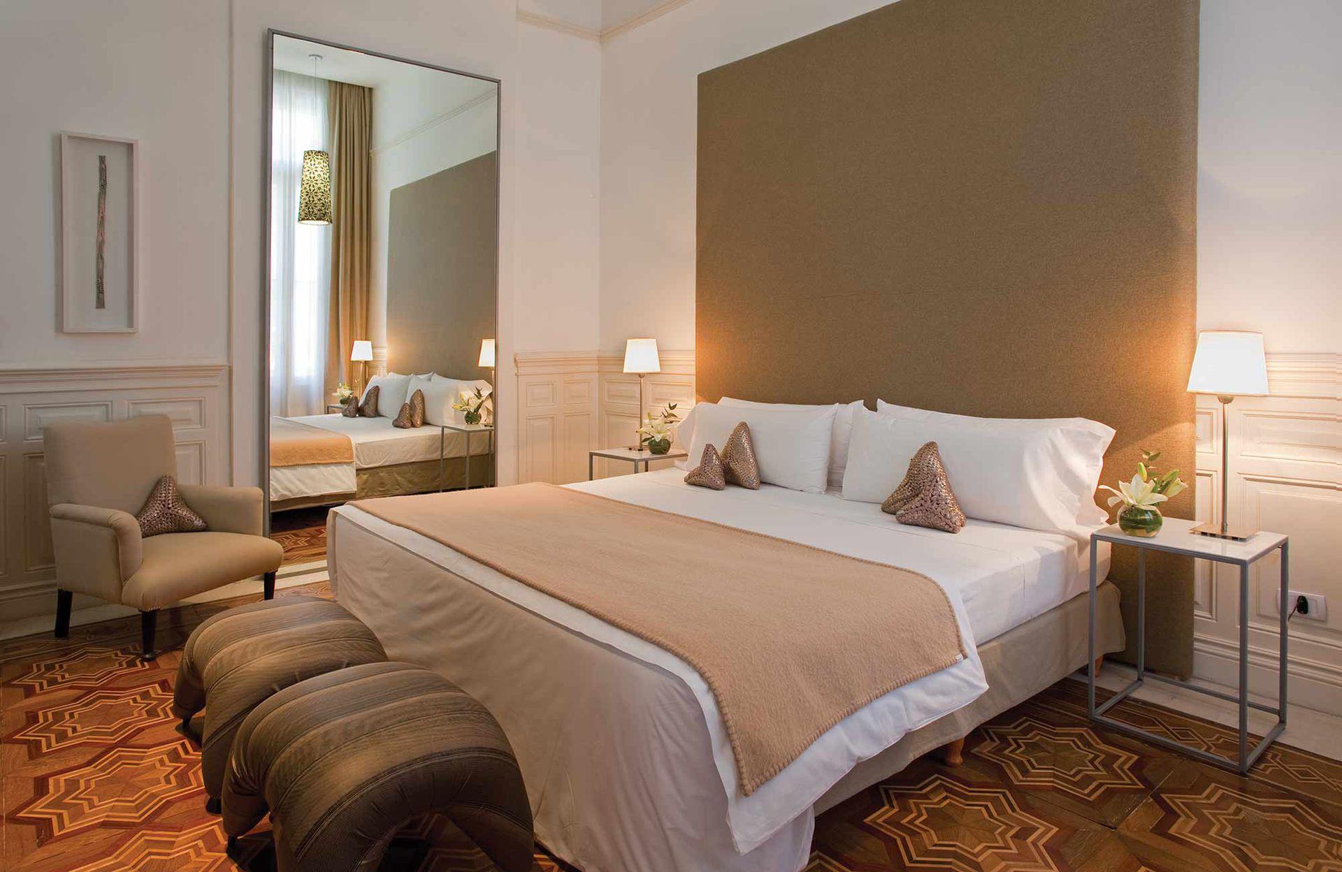 Una de las habitaciones del hotel Esplendor Savoy de Rosario.