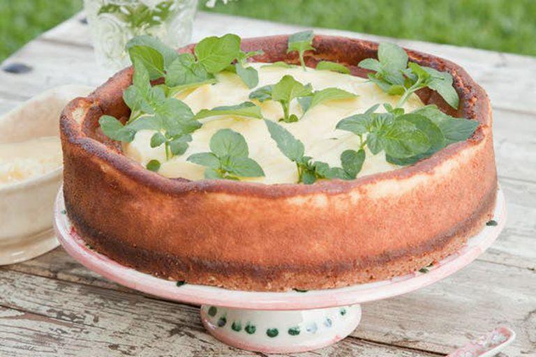 Cheesecake clásico con lemon curd