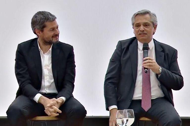 Matías Lammens y Alberto Fernández