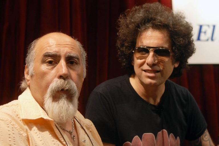 Juanjo junto a Andrés Calamaro, quien colaboró en su disco Sin Red.