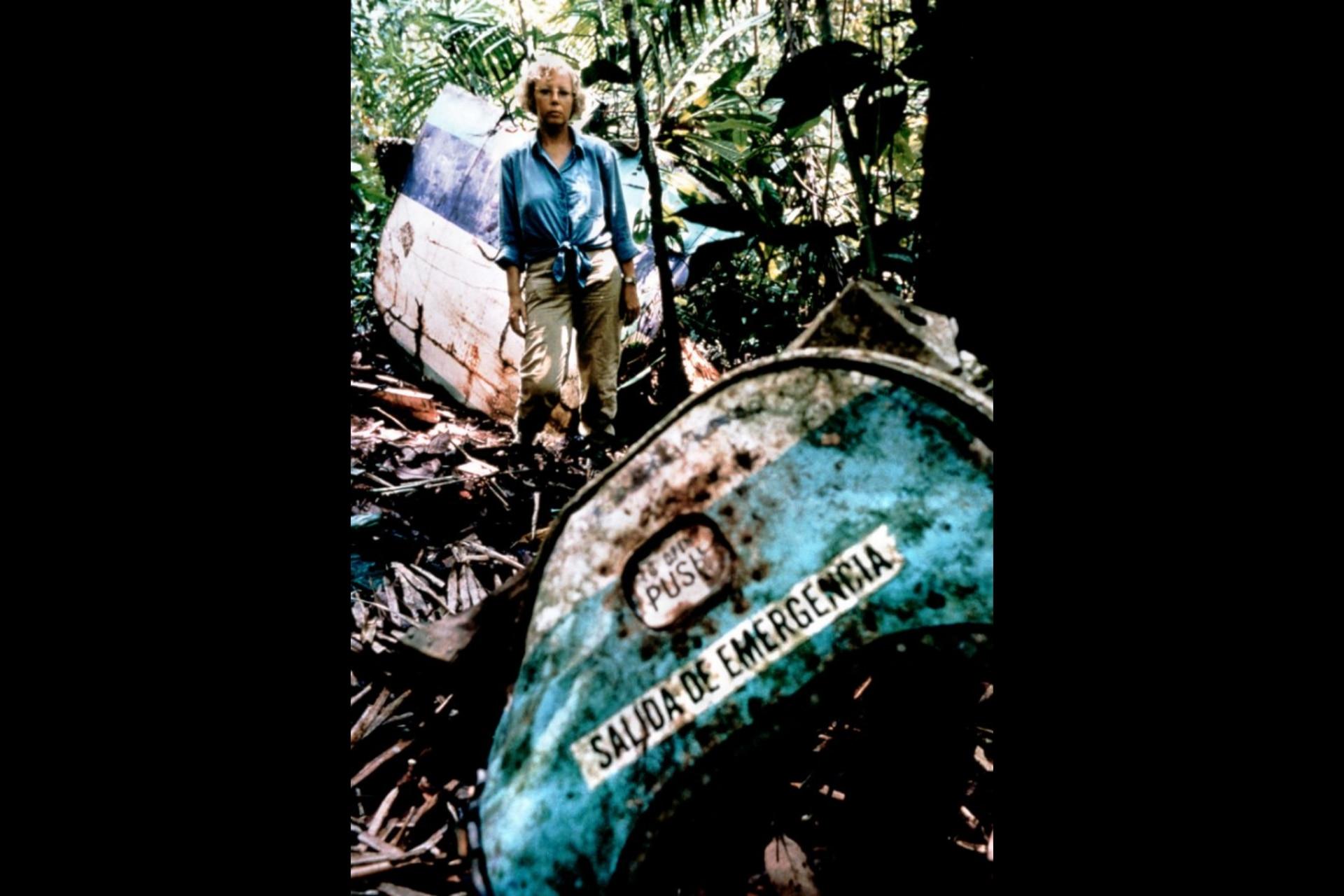 Juliane volvió al lugar del accidente en 1998