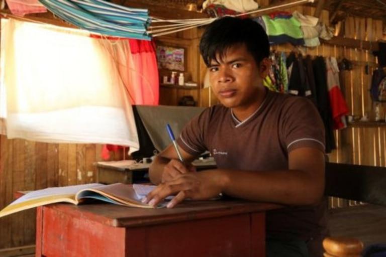 Richard Guimaraes vive en la región amazónica de Perú