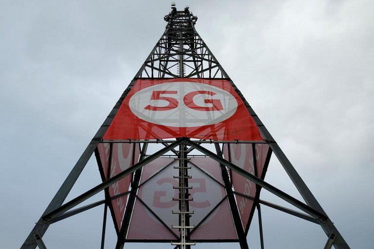 Una antena de tecnología china de 5G, una de las apuestas de Pekín para superar a Estados Unidos