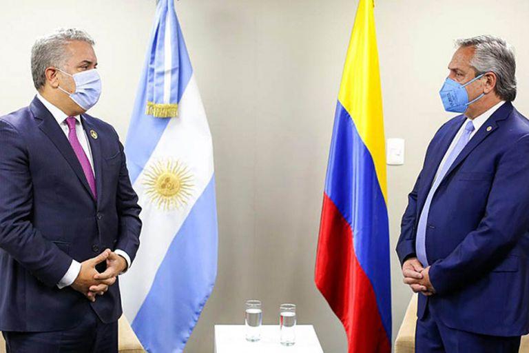 Las protestas de Colombia enfrentan a Iván Duque y Alberto Fernández