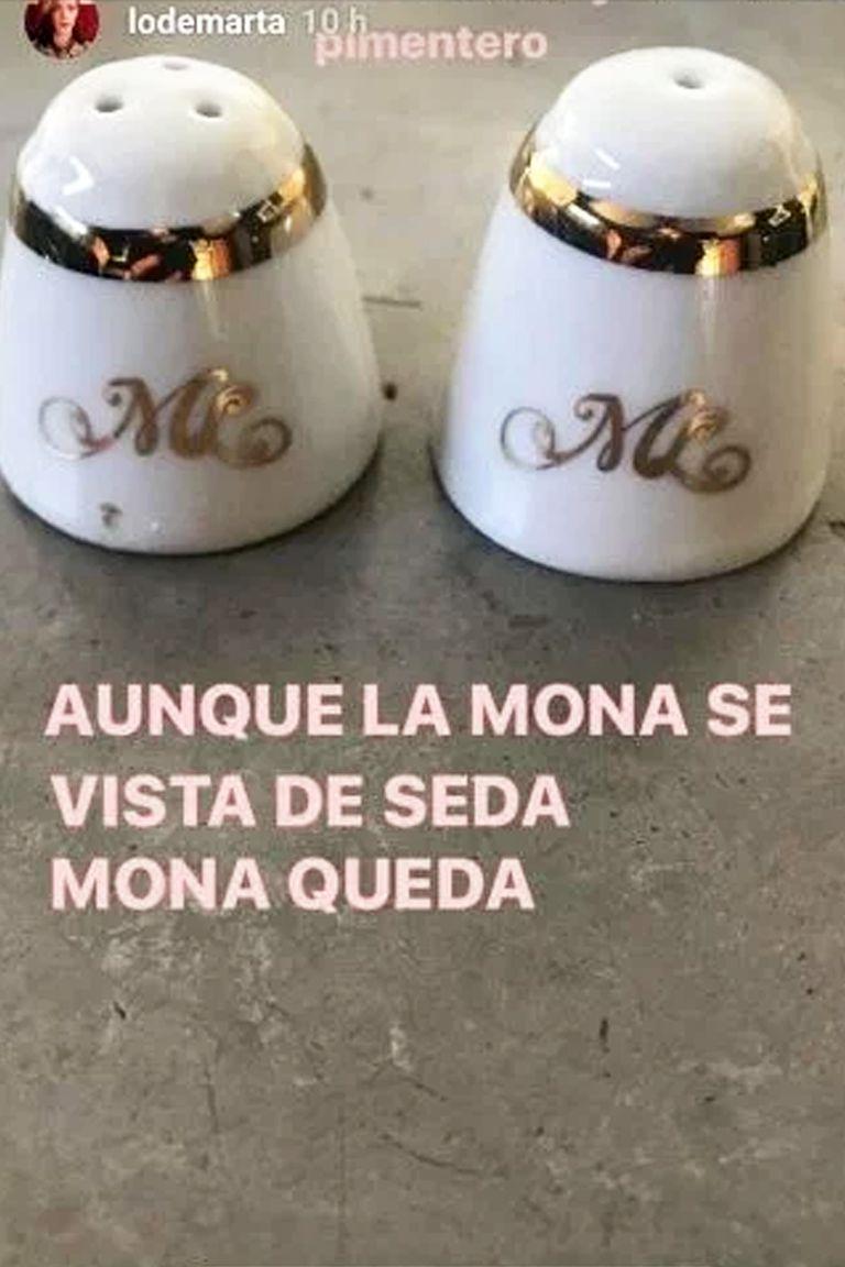 Carla Quevedo fue una de las que confesó en sus propias historias de Instagram que se había llevado los saleros de la mesa de Mirtha Legrand