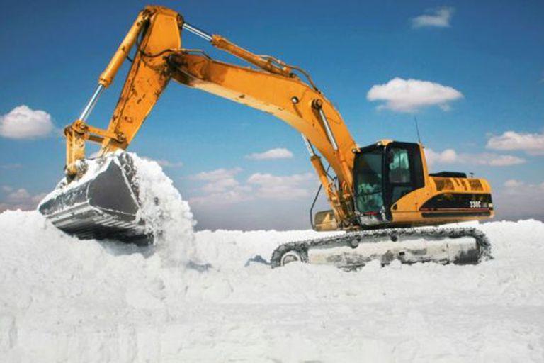 El trabajo de extracción de la sal