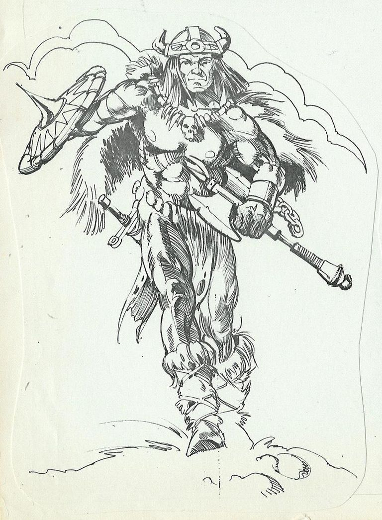 El diseñador Mark Taylor dibujó a este guerrero bárbaro, que sirvió como puntapié inicial para el concepto de He-man.