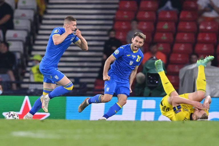 Una patada criminal, un héroe inesperado y un gol agónico: Ucrania eliminó a Suecia en un partidazo