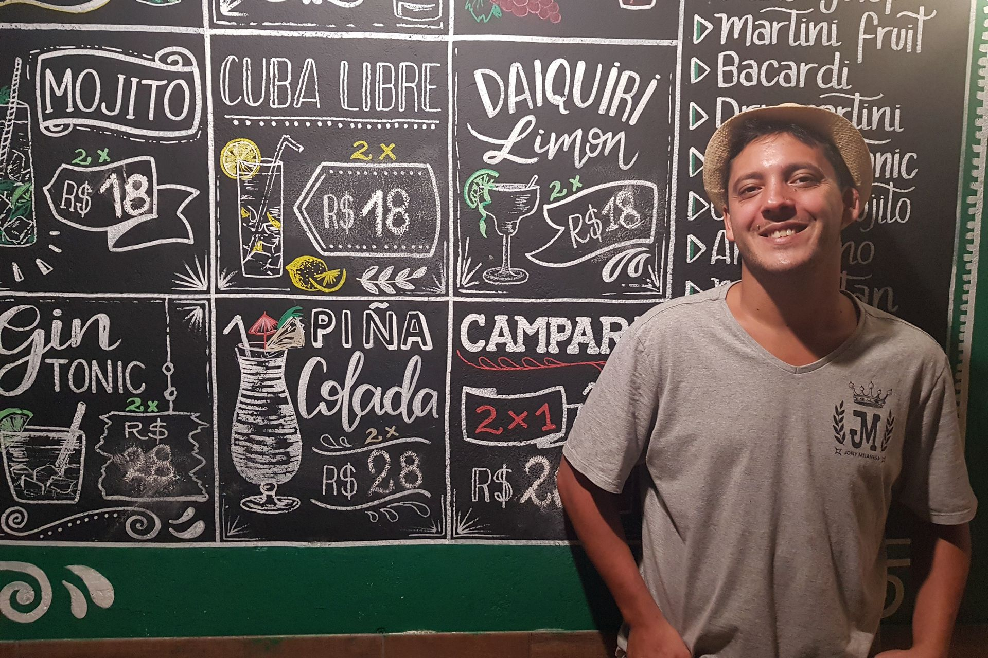 Jonathan Chirivino se convirtió en Jony Milanesa en el Morro de Sao Paulo