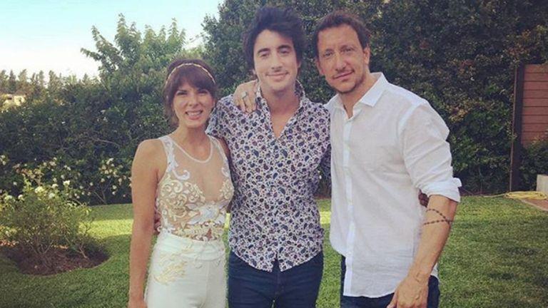 Santiago Vázquez en el día del casamiento de su hermano, Nicolás, con Gimena Accardi
