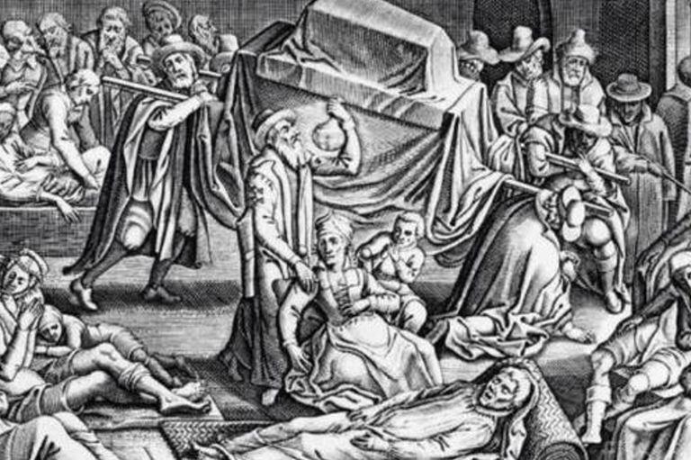 Un grabado que representa la magnitud de la peste