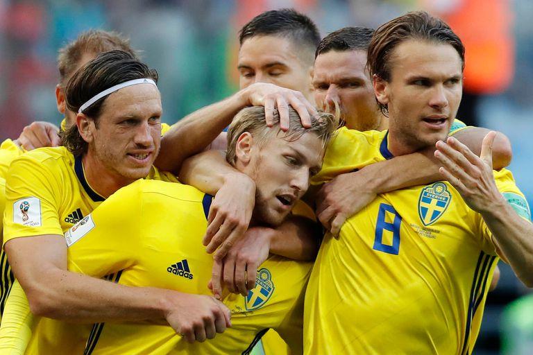 Suecia le ganó 1-0 a Suiza y avanzó a los cuartos de final del Mundial de Rusia