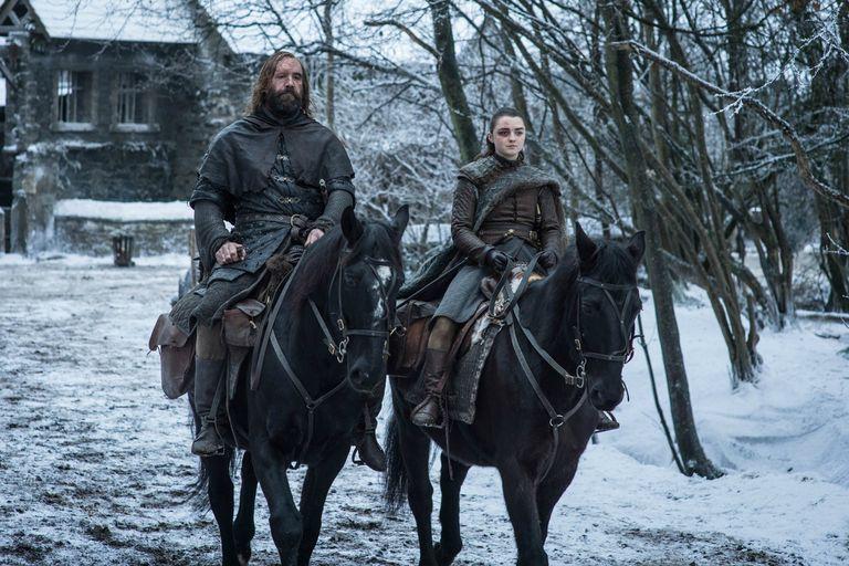 Arya y el Perro camino a King´s Landing