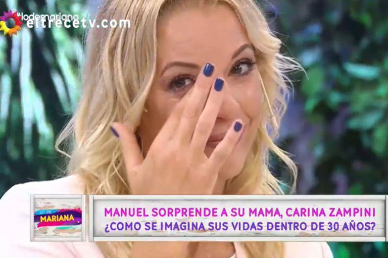 Carina Zampini estuvo en el debut del programa de Mariana Fabbiani y se emocionó al contar cómo es la relación con su hijo Manuel
