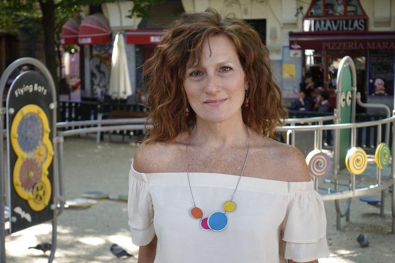 Noelia Noto, la única actriz argentina que obtuvo el Max, en la Plaza Dos de Mayo, de Malasaña