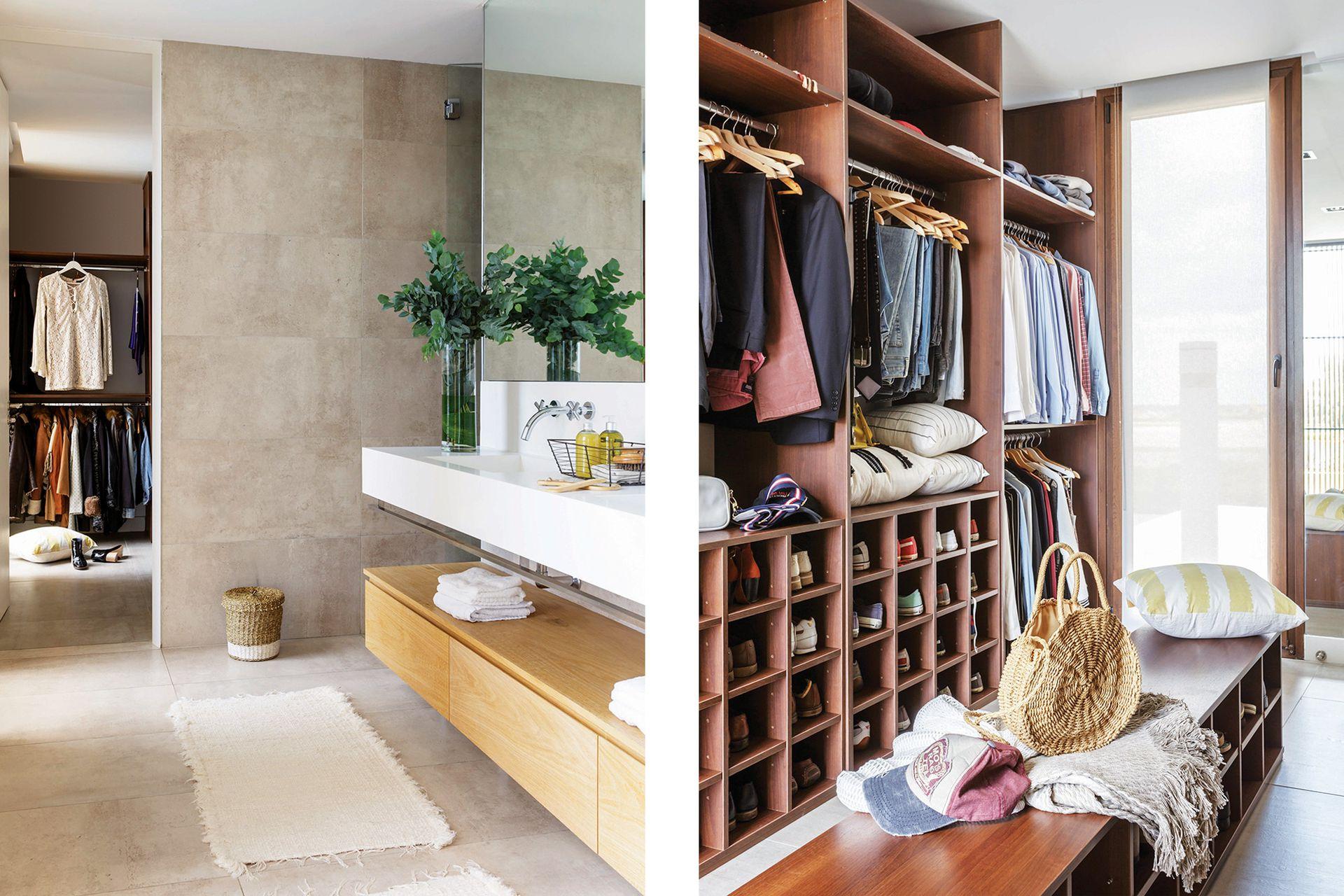 La suite tiene doble circulación: del cuarto se puede pasar al baño, de allí al vestidor y del vestidor, salir al pasillo sin necesidad de volver al dormitorio.