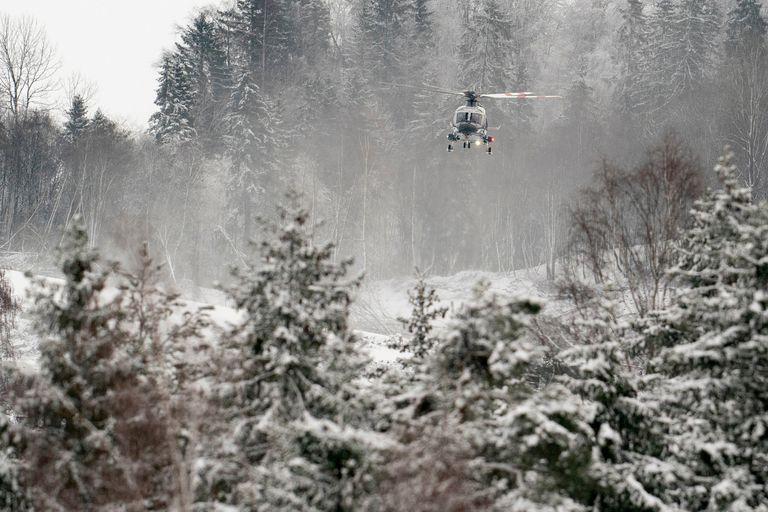 Como la zona está muy inestable sólo se puede acceder en helicóptero