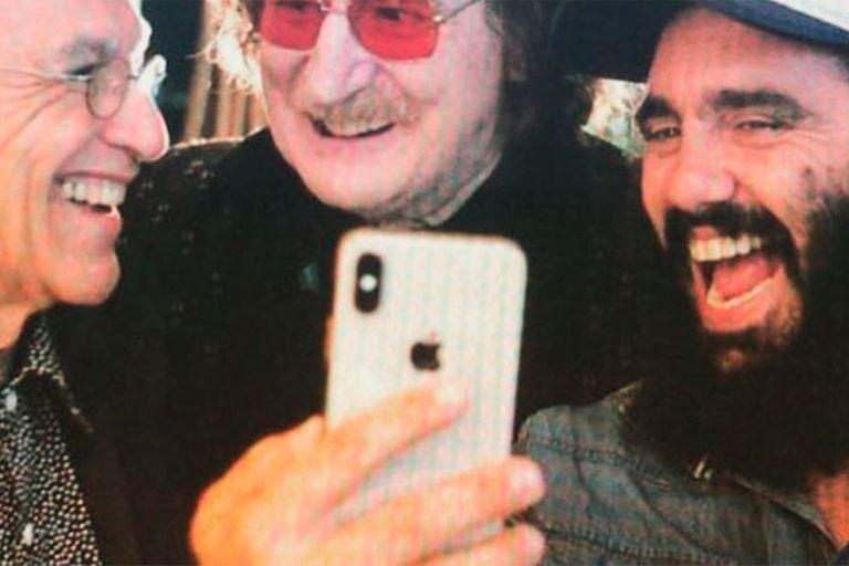 Sorín saludó a un músico por su cumpleaños con una foto con Charly García