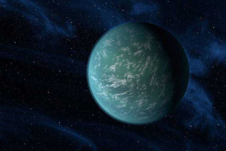 Kepler-22b es un exoplaneta ubicado en la zona habitable que podría tener gran cantidad de agua líquida, como ningún otro planeta visto en nuestro sistema solar