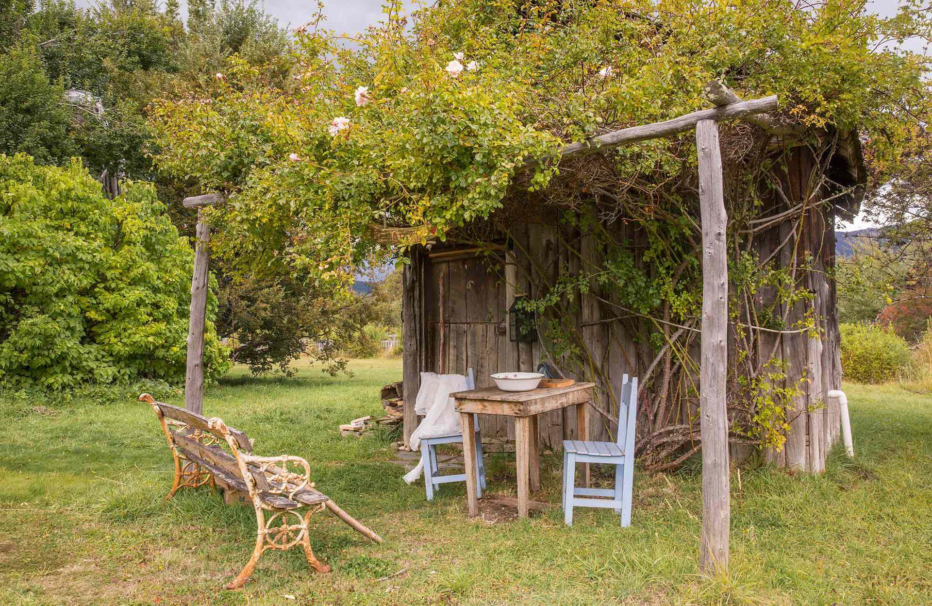 Lugar de descanso en el jardín de La Paciencia.