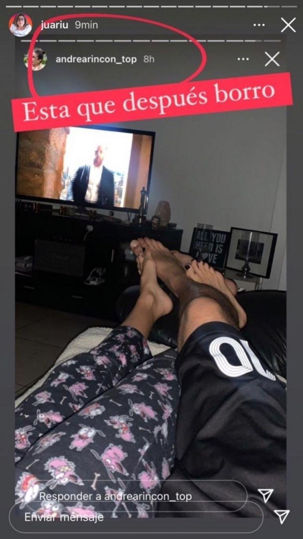 Andrea Rincón compartió una foto junto a un hombre y luego la borró