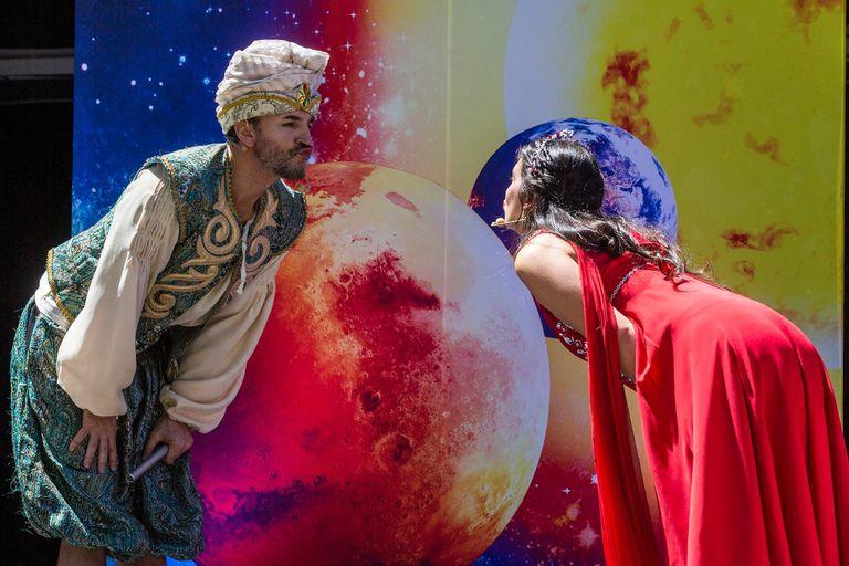 Un momento de La flauta mágica, con producción del Teatro Argentino de La Plata